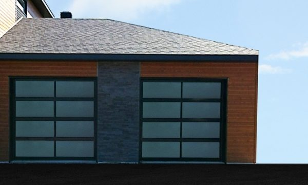 Panoramic Garage Door  / Black / Gray Polycarbonate Glass