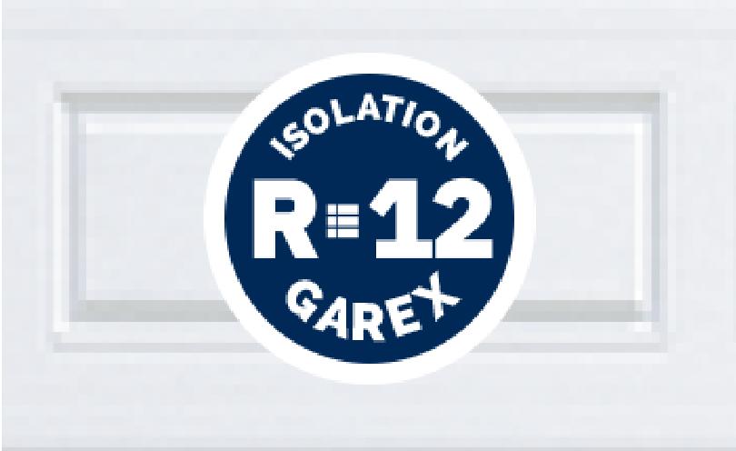 Portes de garage avec Isolation R12