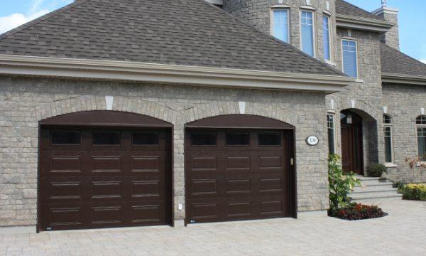 Premium / Commercial brown / Fenêtres scellées avec cadres bruns