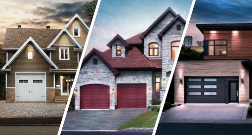 votre porte de garage s'harmonise à la perfection avec votre maison
