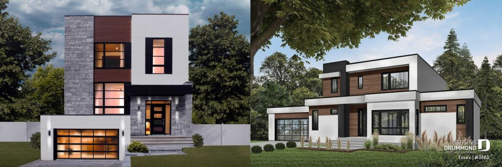Modern cubic contemporary house