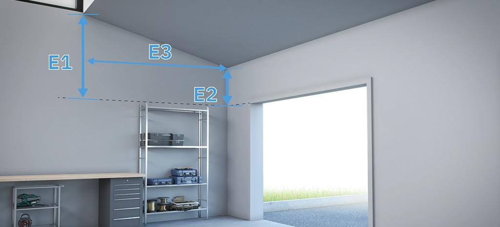 calculez degre pente plafond porte de garage