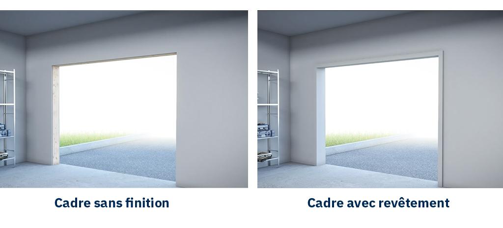 finition cadre ouverture de porte de garage