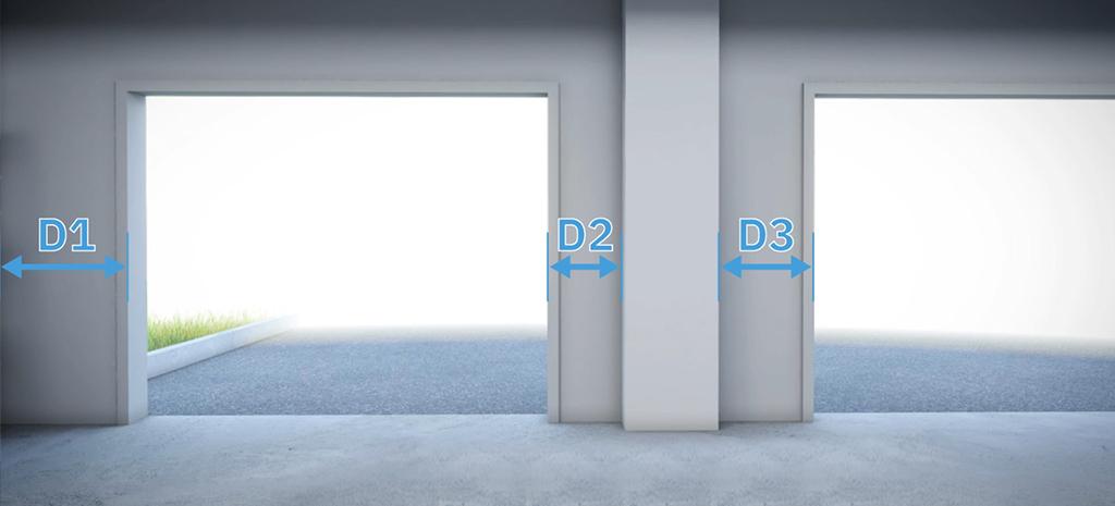 mesurez distance ouverture portes obstacle porte de garage