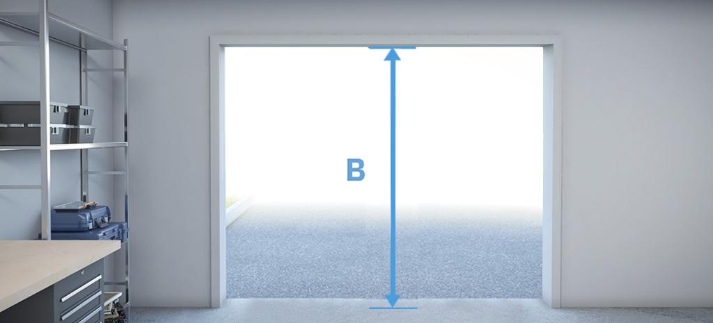 mesurez hauteur exacte ouverture porte de garage 1