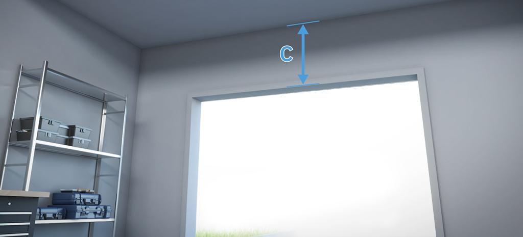 mesurez hauteur libre linteau plafond ouverture porte de garage