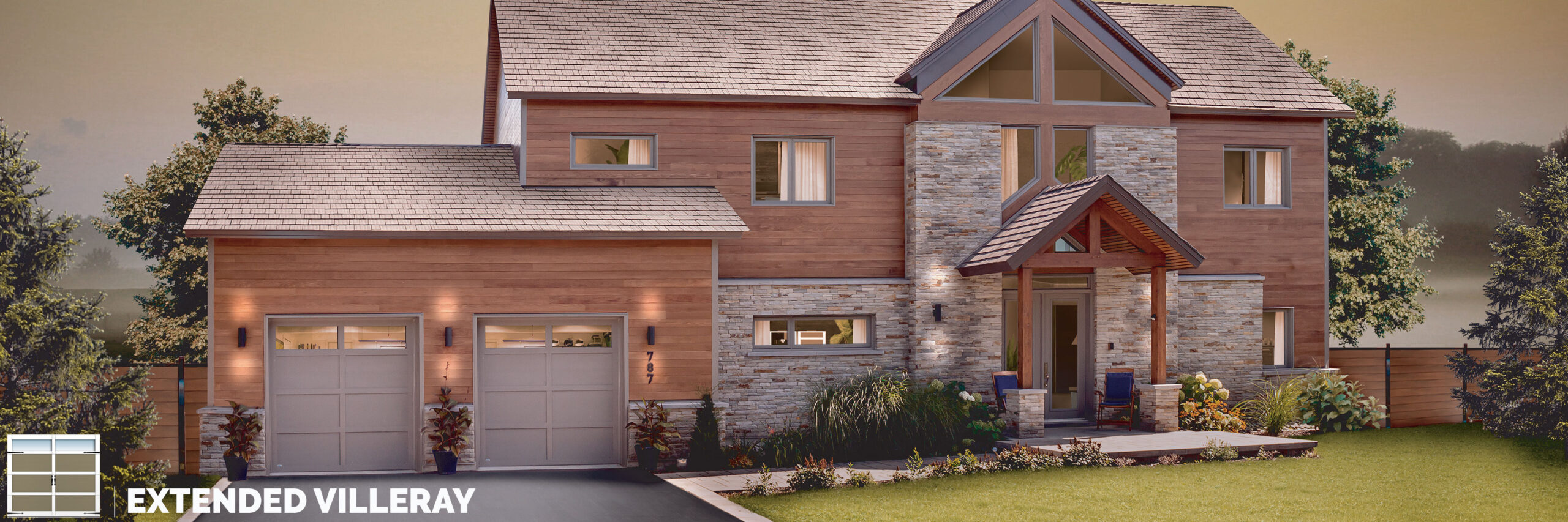 extended villeray carriage house style garage door by garex scaled