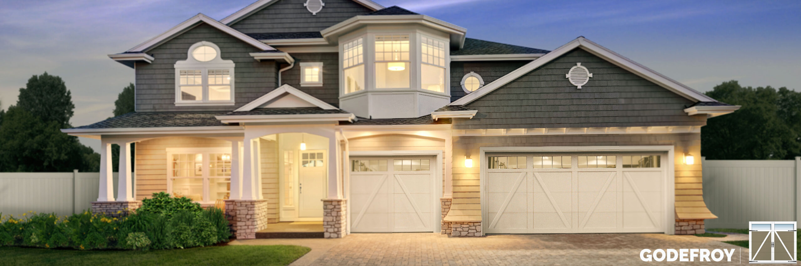 godefroy carriage house style garage door by garex scaled