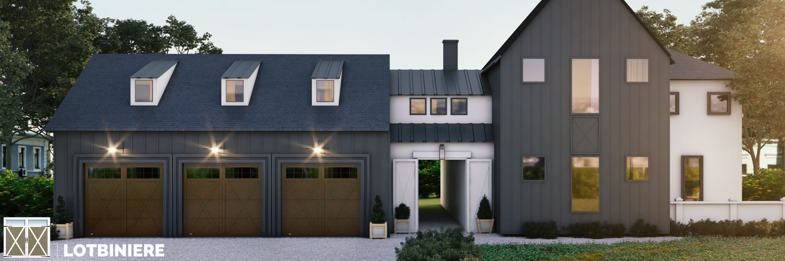 lotbiniere carriage house style garage door by garex scaled