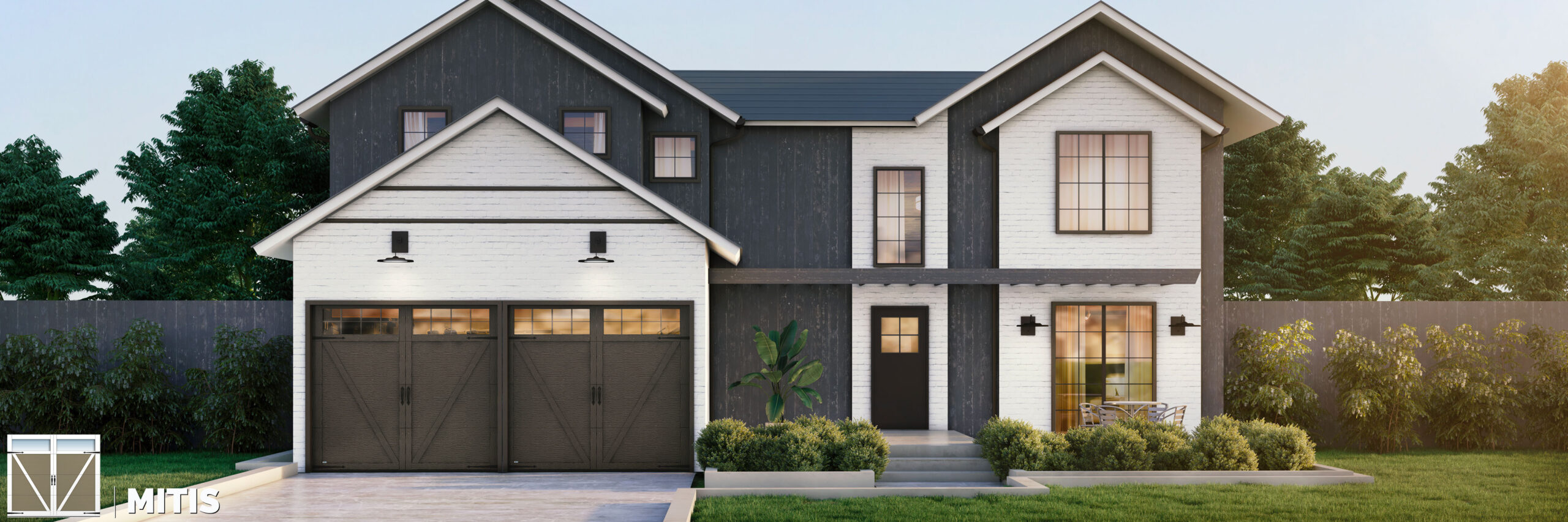 mitis carriage house style garage door by garex scaled