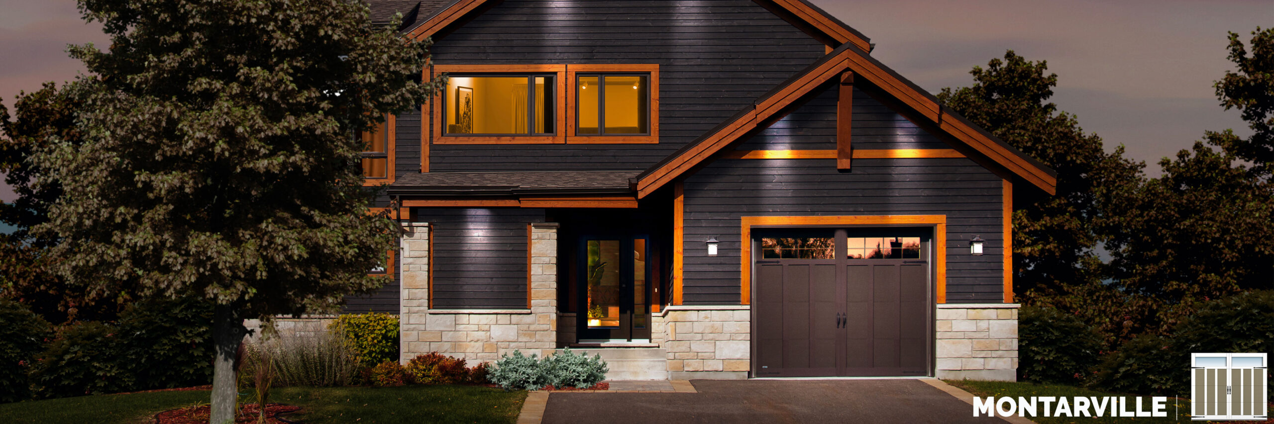 montarville carriage house style garage door by garex scaled