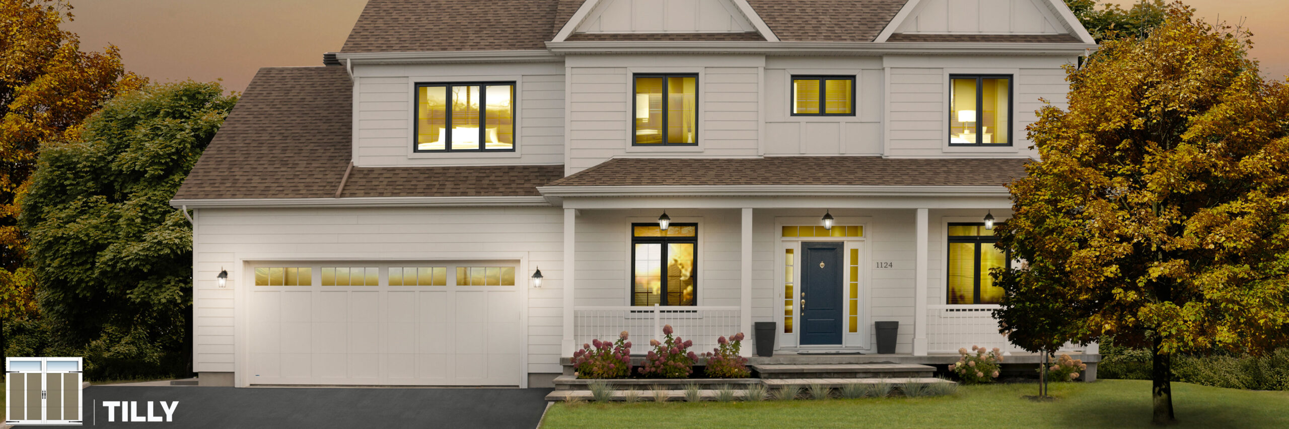 tilly carriage house style garage door by garex scaled